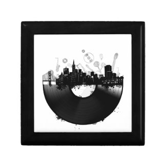 san francisco city skyline vinyl white gift box