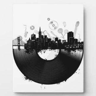 san francisco city skyline vinyl white plaque