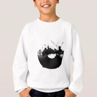 san francisco city skyline vinyl white sweatshirt