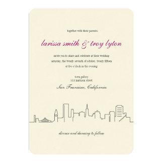 San Francisco City Skyline Wedding Invitation