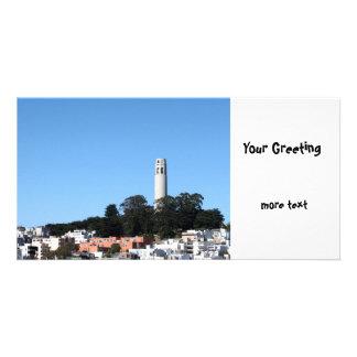 San Francisco Coit Tower Photo Card Template