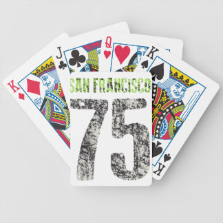 san francisco design bicycle playing cards