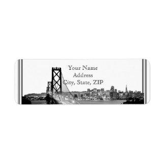 San Francisco Destination Return Address Return Address Label