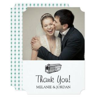 San Francisco Destination Wedding - Thank You Card