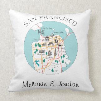 San Francisco Destination Wedding Throw Pillow