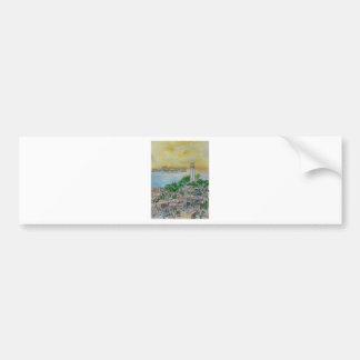 San Francisco Dusk Sunset Over Coit Tower Bumper Sticker