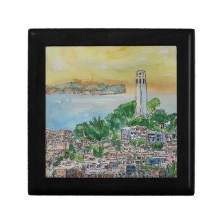 San Francisco Dusk Sunset Over Coit Tower Gift Box