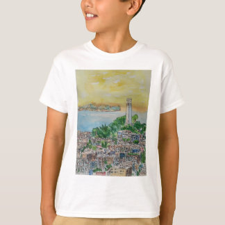 San Francisco Dusk Sunset Over Coit Tower T-Shirt