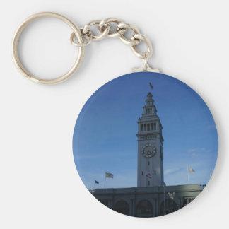 San Francisco Ferry Building Button Keychain