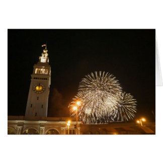 San Francisco Ferry Building Fireworks #2-1 Card