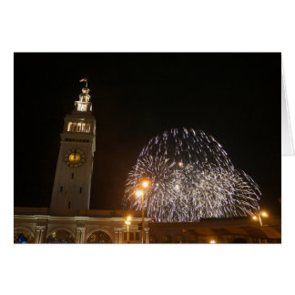 San Francisco Ferry Building Fireworks #3-1 Card