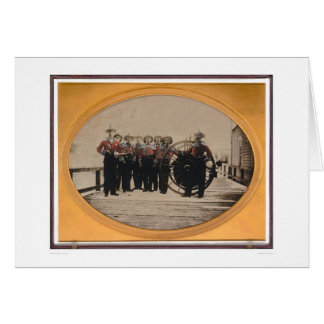 San Francisco Fire Brigade on Meiggs Wharf (40090) Greeting Cards