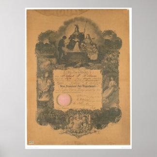 San Francisco Fire Department Certificate (1481A) Poster