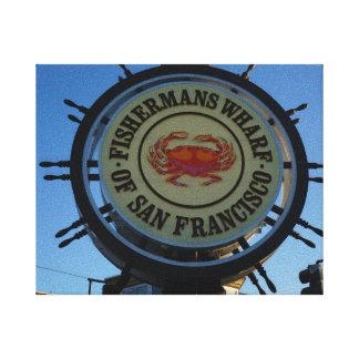 San Francisco Fishermans Wharf Canvas Canvas Print