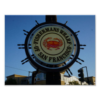San Francisco Fishermans Wharf Poster