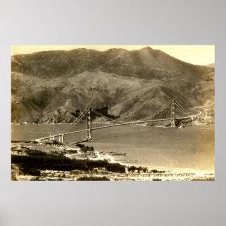 San Francisco, Golden Gate Bridge, 1930s Vintage Poster