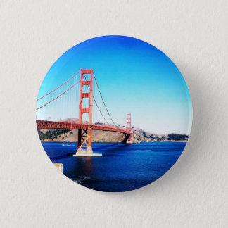 San Francisco Golden Gate Bridge California 6 Cm Round Badge