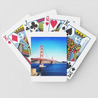 San Francisco Golden Gate Bridge California Bicycle Playing Cards