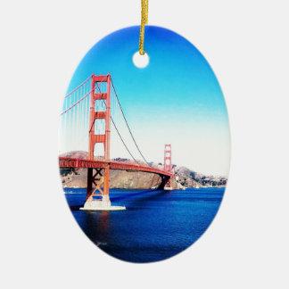 San Francisco Golden Gate Bridge California Ceramic Ornament