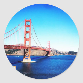 San Francisco Golden Gate Bridge California Classic Round Sticker