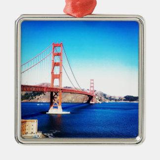 San Francisco Golden Gate Bridge California Metal Ornament