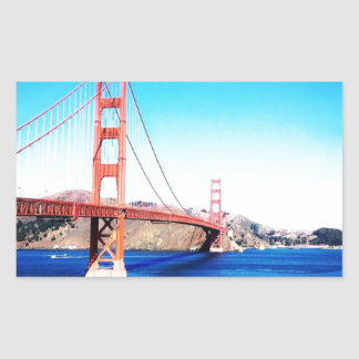 San Francisco Golden Gate Bridge California Rectangular Sticker
