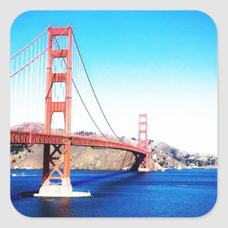 San Francisco Golden Gate Bridge California Square Sticker