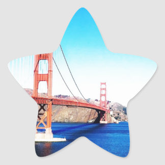 San Francisco Golden Gate Bridge California Star Sticker