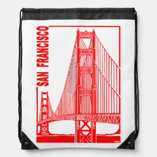 San Francisco-Golden Gate Bridge Drawstring Bag