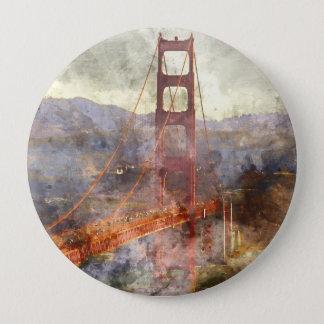 San Francisco Golden Gate Bridge in California 10 Cm Round Badge