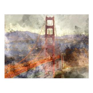 San Francisco Golden Gate Bridge in California Postcard