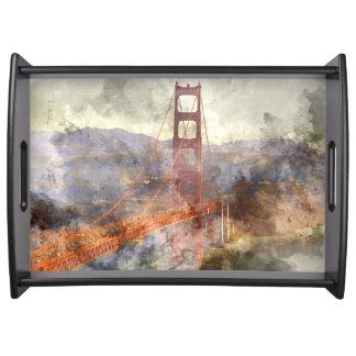 San Francisco Golden Gate Bridge in California Serving Tray