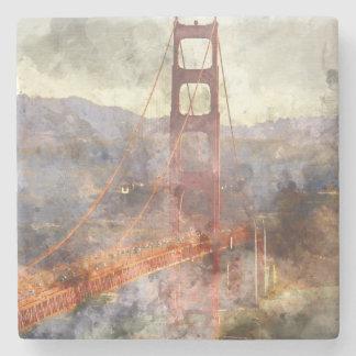 San Francisco Golden Gate Bridge in California Stone Coaster