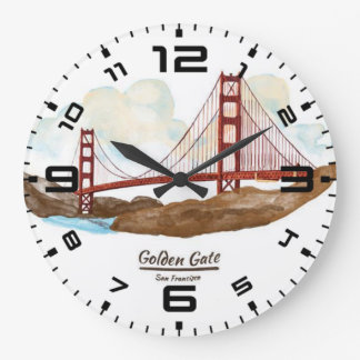 San Francisco Golden Gate Bridge Large Clock