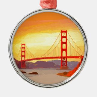 San Francisco Golden Gate Bridge Metal Ornament