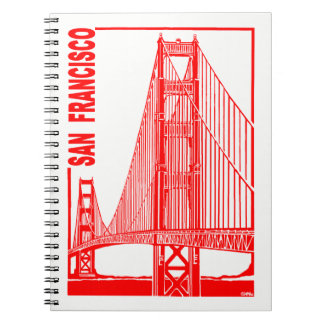 San Francisco-Golden Gate Bridge Spiral Notebook