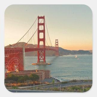 San Francisco Golden Gate Bridge Square Sticker