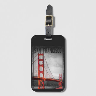 San Francisco, Golden Gate City, Luggage Tag
