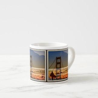 san francisco golden gate surfer espresso mug