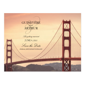 San Francisco Golden Gate Wedding Save the Date Postcard
