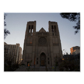 San Francisco Grace Cathedral Poster
