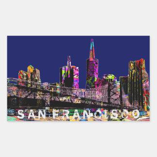 San Francisco graffiti Rectangular Sticker