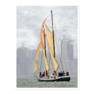 San Francisco Historical Scow Schooner post card
