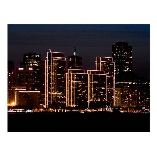 San Francisco Holiday Lights Postcard