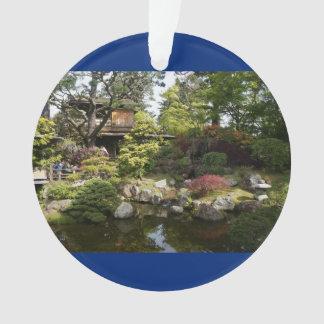 San Francisco Japanese Tea Garden #6 Blue Ornament