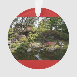 San Francisco Japanese Tea Garden #6 Red Ornament