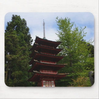 San Francisco Japanese Tea Garden Pagoda Mousepad