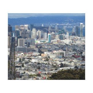 San Francisco Market Street Stretched Canvas Print