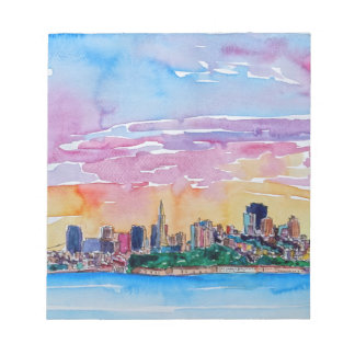 San Francisco of the dawn sunset Notepads
