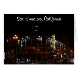 San Francisco Orpheum Theatre Card